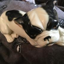 Majolica style Austrian bulldog