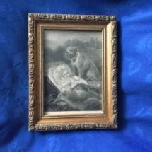 Vintage Bulldog Painting