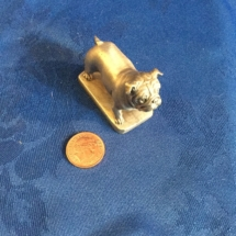 Small pewter bulldog