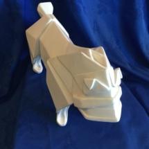 Wooden origami style bulldog