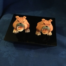 Comical Bulldog Figurines