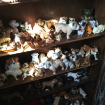 Many Assorted Bulldog Figurines