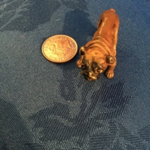 Austrian made small bronze bulldog