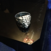 Heavy Hallmarked Silver bulldog ring
