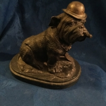 Heavy bronze bulldog