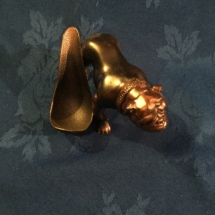 Copper bulldog pipe holder