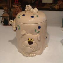 A Bulldog Treats Jar