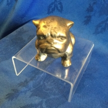 Small brass seated bulldog