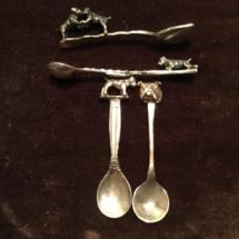 Tiny silver spoons