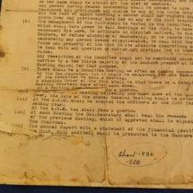 Draft copy of the midlands club rules 1900