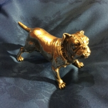 Sterling silver hallmarked English bulldog dated 1909 Chester