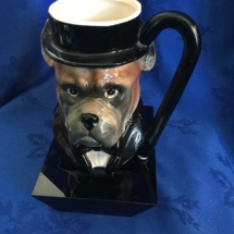 Vintage Bulldog Head Mug
