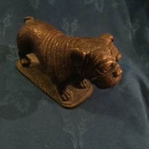 Bronze bulldog signed Barrie
