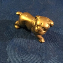 Small brass bulldog