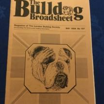 Vintage bulldog magazine named the broadsheet