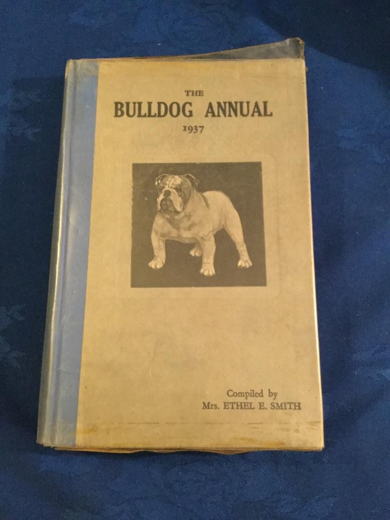 Vintage 1930s bulldog book