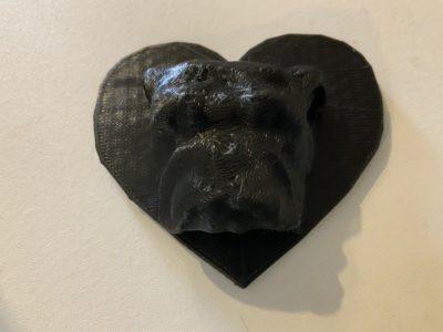 3D printed bulldog love
