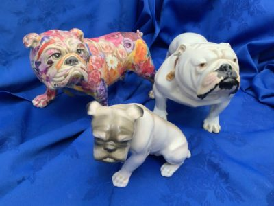 Antique bulldog collection