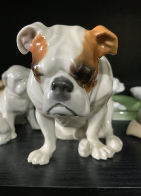 Bulldog memorabilia European porcelain