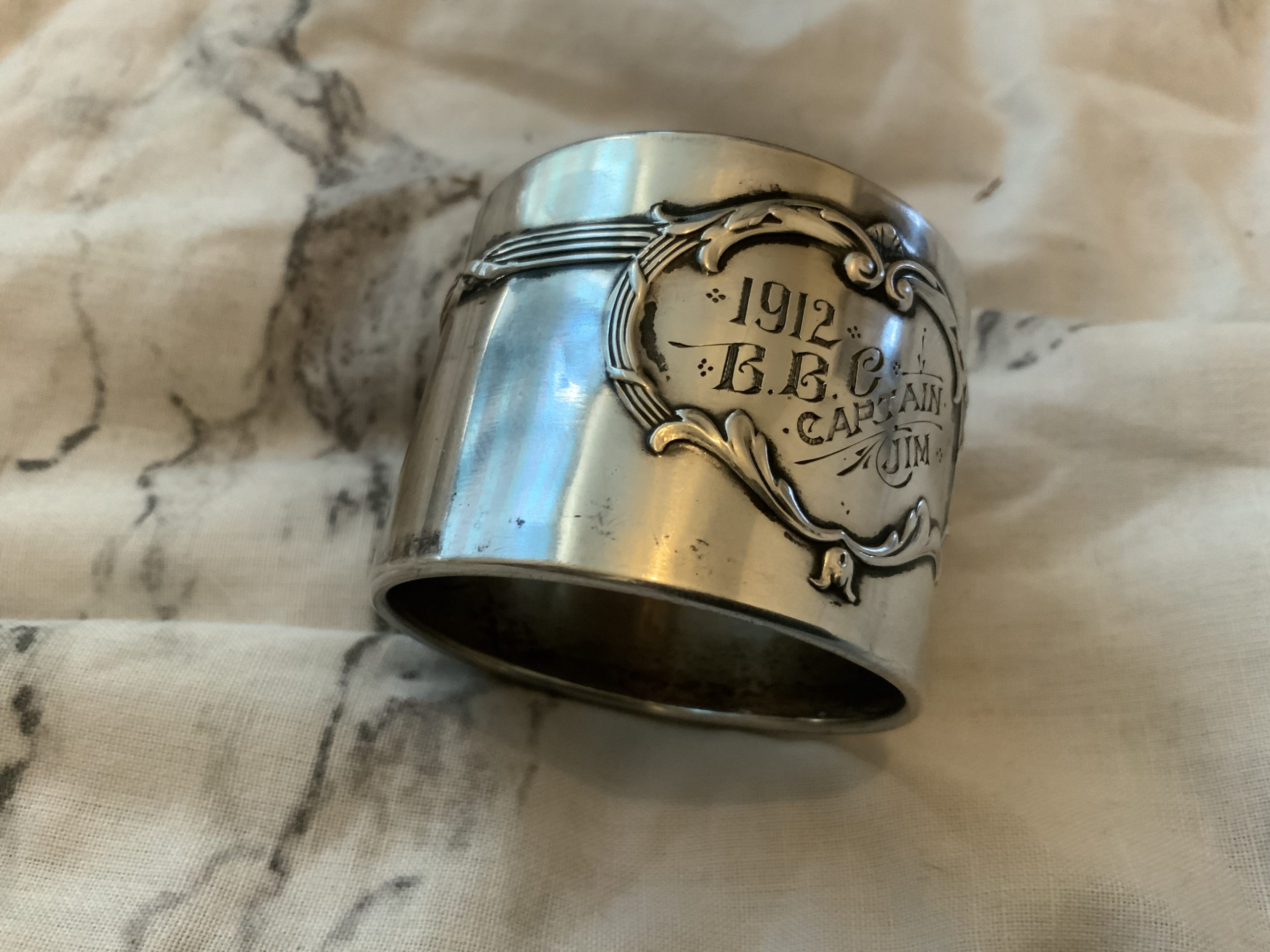 Bulldog club founding members napkin ring ?